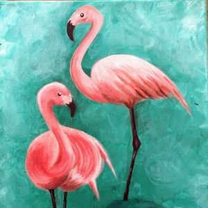 Original Flamingo Painting